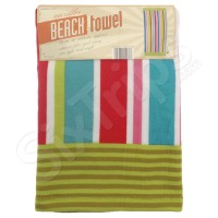 """Плажна кърпа на райета в свежи цветове Alfresco """"Summer Stripe"""""""