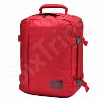 Червена пътна чанта и раница за пътуване с Wizz Air Cabin Zero Mini, 28л