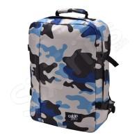Модерна раница и пътна чанта за ръчен багаж 55см син камуфлаж Cabin Zero Classic
