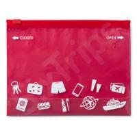 Непромокаема торбичка за път в червен цвят