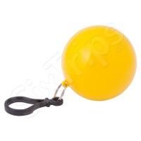 Жълт портативен дъждобран пончо