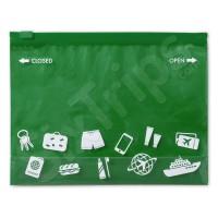 Зелена торбичка за плажа или за път, непромокаема