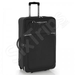 Черен куфар Malasia с две колела, 77см.