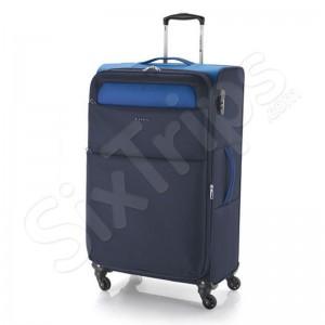 Голям син куфар с олекотена конструктция Gabol Cloud