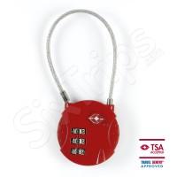 Стилен червен катинар по TSA със стоманено въже