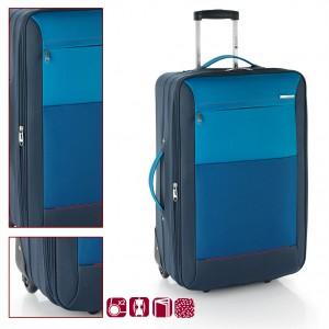 Текстилен куфар в синьо Gabol Reims 76см