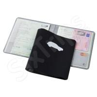 Черен PVC портфейл за документи Voyage