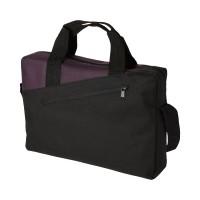 Чанта с двойна дръжка Portland черно-лилава