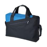 Чанта с двойна дръжка Portland черно-синя