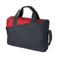Чанта с двойна дръжка Portland черно-червена