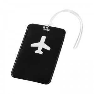 Черен етикет за багаж самолетче