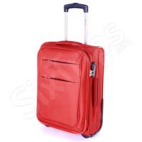Малък червен текстилен куфар Puccini Camerino