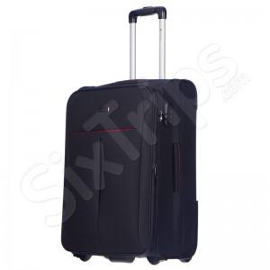 Удобен черен куфар среден разм. Puccini Latina