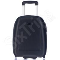Малък твърд куфар за Wizz Air Puccini Barcelona 42см, черен