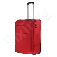 Червен куфар на две колела Puccini Camerino в червен цвят, 68л