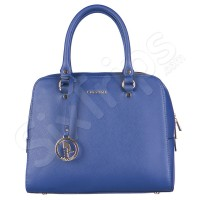 Свежа синя елегантна чанта Puccini