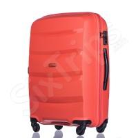Оранжев голям куфар с модерен дизайн Puccini Acapulco 100л