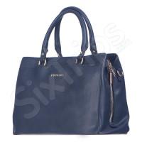 Дамска чанта Puccini в стилен син цвят