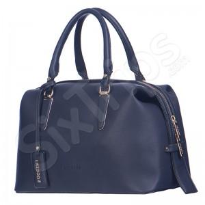 Дамска елегантна чанта в тъмносиньо Puccini