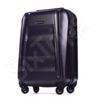 Луксозен малък куфар за ръчен багаж в тъмнолилаво Puccini New York, 55см