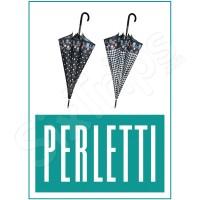 Стилен дамски черно-бял чадър Perletti
