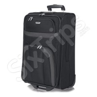 Практичен черен куфар Travelite Orlando M
