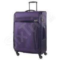 Лилав текстилен куфар с четири колела Titan Royal 65л
